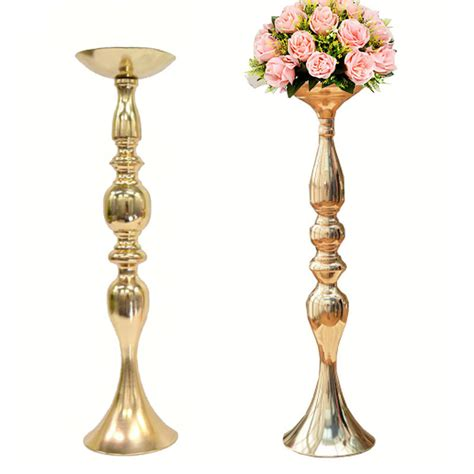 Wholesale Vases For Wedding Aliexpress Com Buy 10pcs Lot Gold Metal Candle Holders