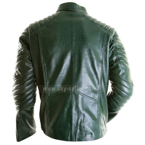 Mens Green Leather new superman green leather jacket for