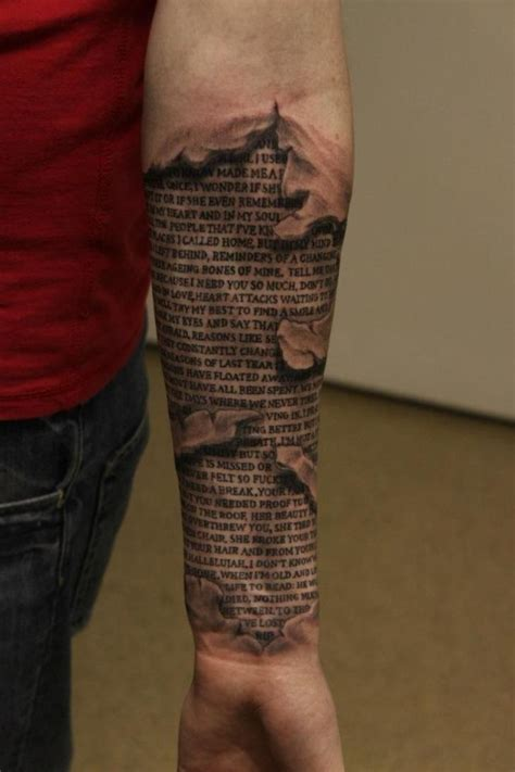 skin tattoos best 25 torn skin tattoos ideas on