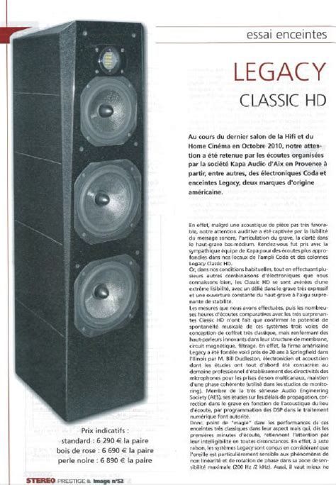 legacy classic hd delivers extreme clarity  stereo