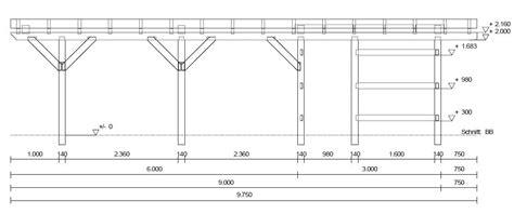 carport selber zeichnen spitzdach 3 50 x 9 75 preise