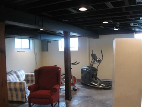 black basement ceiling painting basement ceiling black stairs painting basement