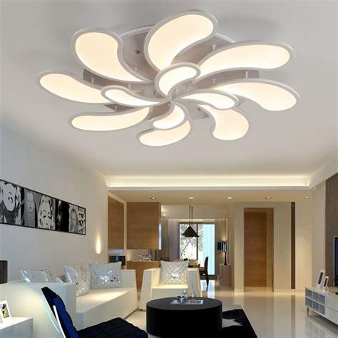 flower acrylic led ceiling light modern living room