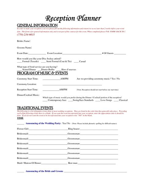 wedding planner contract template free wedding planner agreement