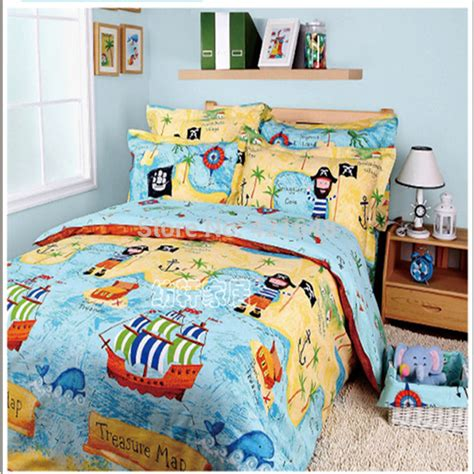 Pirate Bed Sets Free Shipping 100 Cotton Of The Caribbean Bedding Set Fashion 3 4pcs Bed Set