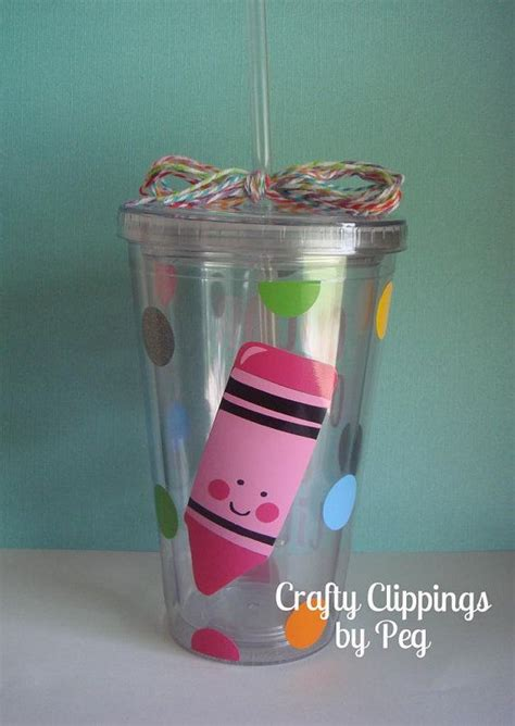 Tb008 Back To School Tumbler 1 tumbler crayon cup gift back to school color outside the lines cricut