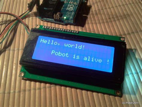 simple lcd  ic module  arduino pobot