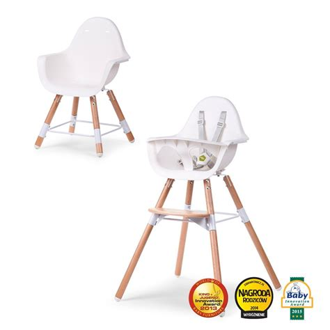 Kinderstuhl Design by Childwood 2in1 Design Kinderhochstuhl Evolu 2 Holz Wei 223