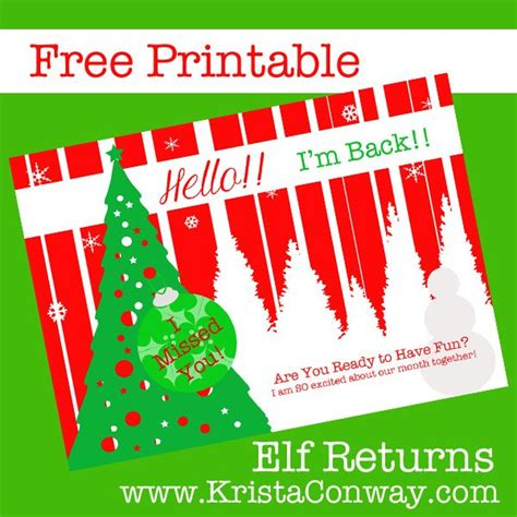 free printable elf on the shelf i m back 17 best images about elf on the shelf on pinterest golf