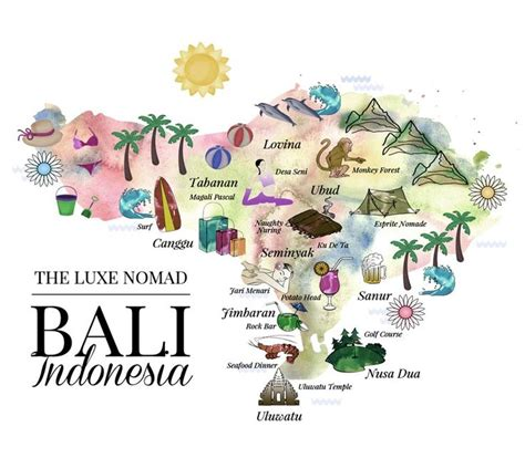 Great Travel Trace Bag 1 luxe nomad illustrated bali map great overview of