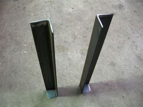 angle iron table legs pin by berrier on work table iron