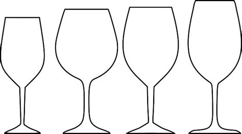 Glass Outline by Free Vector Graphic Wine Glasses White Outline Free Image On Pixabay 310934