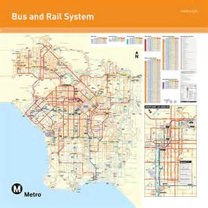 Los Angeles Transit Map by Los Angeles Map Bus