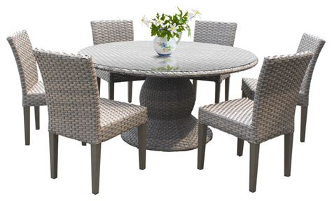 60 patio table set harmony 60 quot outdoor patio dining table with 6 chairs