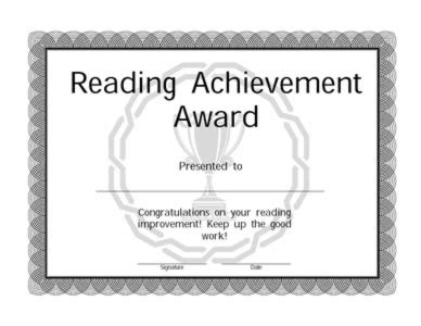 reading award certificate template pictures to pin on