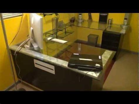 diy video editing desk custom built video editing office desk glass top walk