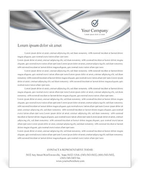 Silver Abstract Waves Letterhead Template Design Id 0000001841 Smiletemplates Com Letterhead Templates Word