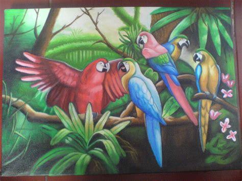 Lukisan Keluarga Ayam karyaq yunisindriyanti s