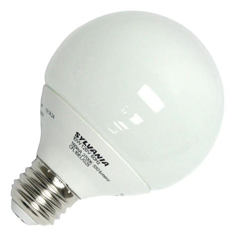 sylvania fluorescent light bulbs sylvania 28918 cf10el g25 827 bl globe base