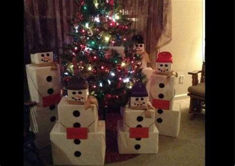 snowmen present box instructions christmas decorations