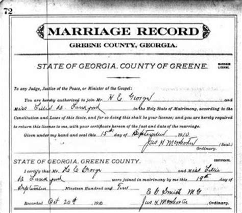 Atlanta Marriage Records Living In The Past Hayden Edgar George