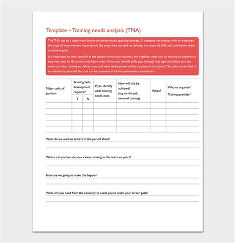 needs analysis form template needs analysis template 20 for word excel pdf