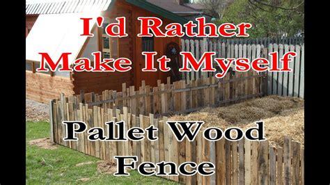 build  gardenrabbit fence  pallet wood