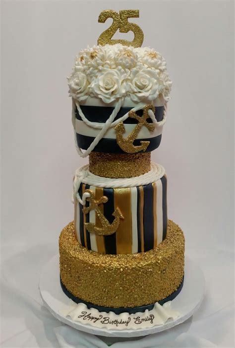 gold themed cake mymonicakes gold sequin nautical themed cake with