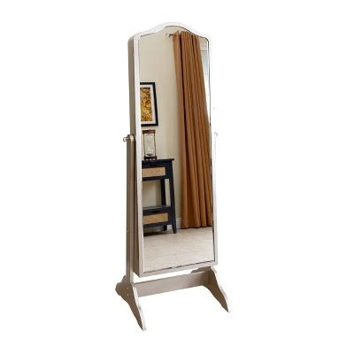 standing jewelry armoire target merlo floor standing mirror and jewelry armoire silver
