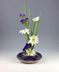 ikebana vase flower tray flower dish handmade stoneware