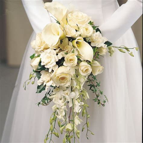 White Wedding Bouquets For Brides by Bouquet Bridal White And Calla Bouquet