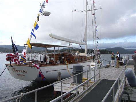 trend setting hinckley yacht returns home after years at