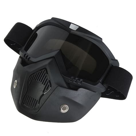 motocross helmet with shield motorcycle helmet face mask shield goggles detachable