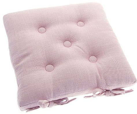pink kitchen chair cushions primavera pink buttoned seat pad