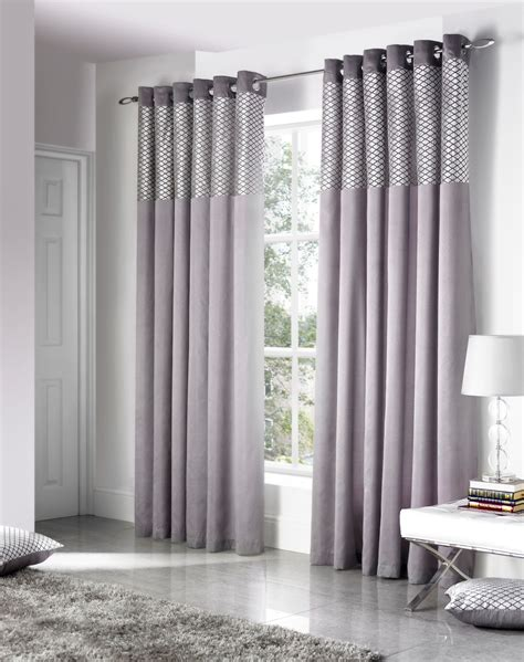 velvet silver curtains faux silk cut velvet silver lined ring top curtains drapes