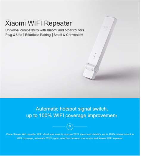 Xiaomi Wifi Range Extender Repeater Speed 300mbps Ver 2 xiaomi wifi repeater universal wifi extender 300mbps 802 11n lifier ebay