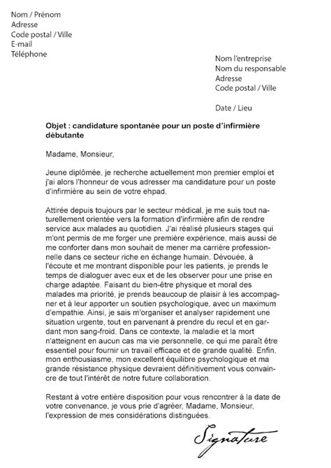 Exemple Lettre De Motivation Diplomã Infirmier Lettre De Motivation Infirmi 232 Re D 233 Butante Mod 232 Le De Lettre