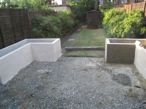 render a wall diy rendered garden walls crumbling diynot forums