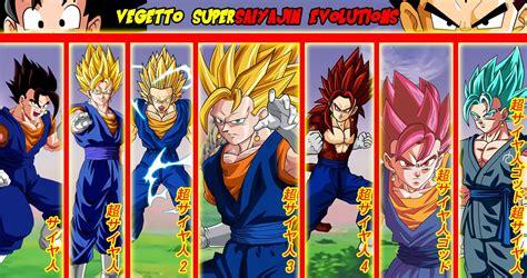 X Plus Series Saiyajin Vegetto vegetto supersaiyajin evolutions fond d 233 cran and arri 232 re