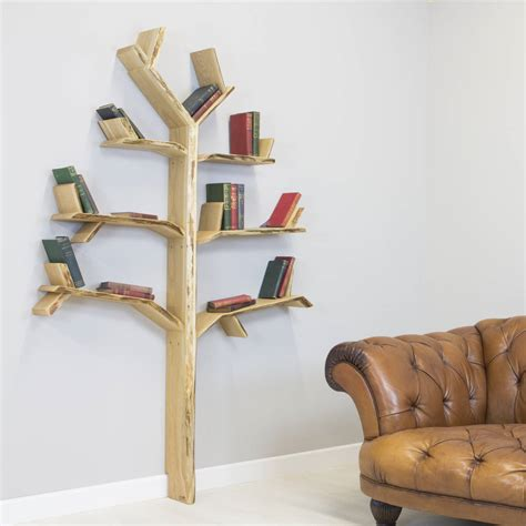 Handmade Shelf - handmade tree book shelf oak tree by bespoak interiors