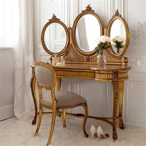 Gold Vanity Table by Versailles Gold Dressing Table Bedroom Company