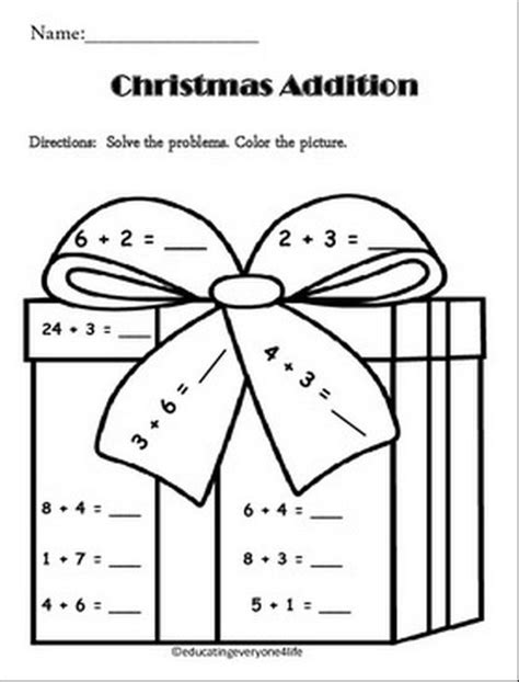 christmas coloring pages for 5th graders christmas themed math worksheets for 1st grade math