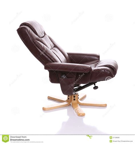 reclined position leather heated recliner chair stock photo image 27128000