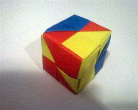 How To Fold Origami Cube - origami cube 183 how to fold an origami shape 183 origami and