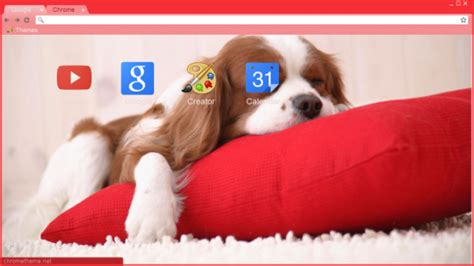 theme google chrome red 34 puppy chrome themes desktop wallpapers more for dog