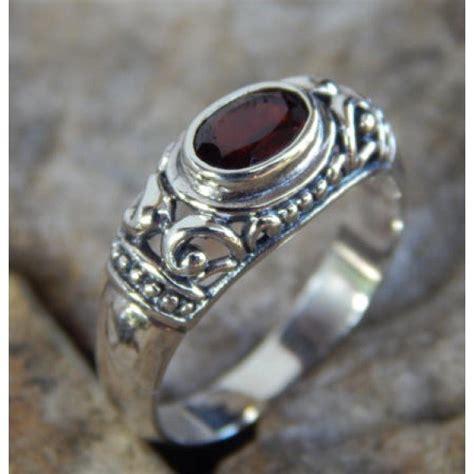 Cincin Perak Motif Ukiran Simpel 343528 jual beli cincin perak motif simpel batu garnet 07261