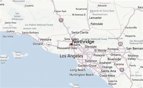 northridge california map northridge california weather forecast
