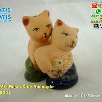 Payung Lipat Kucing kucing mix resin clay accouple souvenir pernikahan
