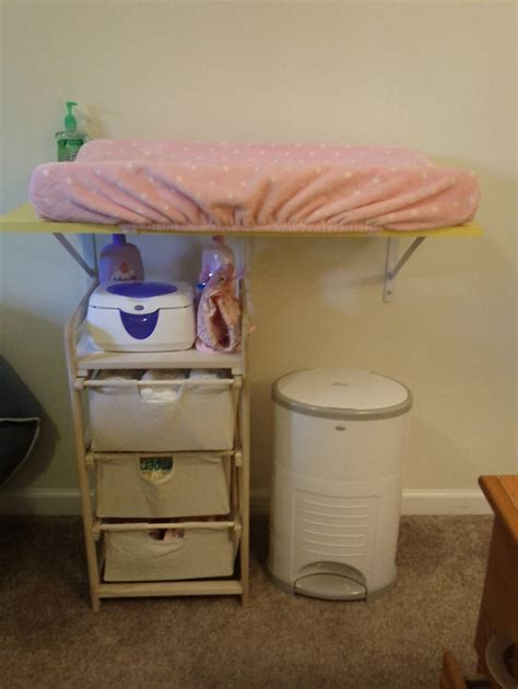 Diy Changing Table For A Small Space Baby Pinterest Diy Baby Changing Table