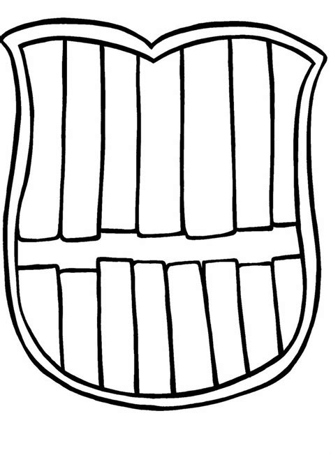 Tooth Writing Template by Tooth Brush Free Colouring Pages